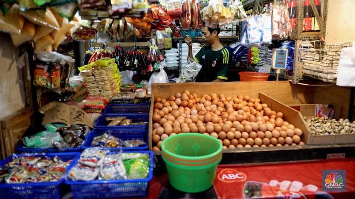 Ilustrasi penjual sembako. (CNBC Indonesia/Muhammad Sabki)