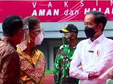 Jokowi Cek Vaksinasi Corona Massal di Stadion Patriot Bekasi