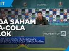 Botol Coca Cola Digeser Ronaldo, Harga Saham Coca-Cola Anjlok