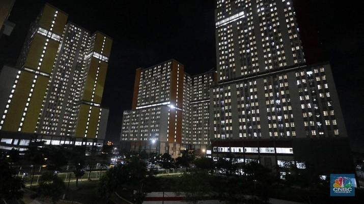 Rumah Sakit Darurat Covid-19 (RSDC) Wisma Atlet Kemayoran, Jakarta, Selasa (15/6/2021). (CNBC Indonesia/ Andrean Kristianto)