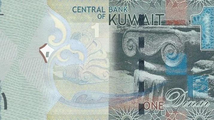 Mata uang dinar Kuwait yang disimbolkan KWD menjadi mata uang termahal di dunia. (Dok: Image Source)