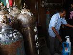 Seramnya 'Ledakan' Corona RI di Mata Pedagang Tabung Oksigen