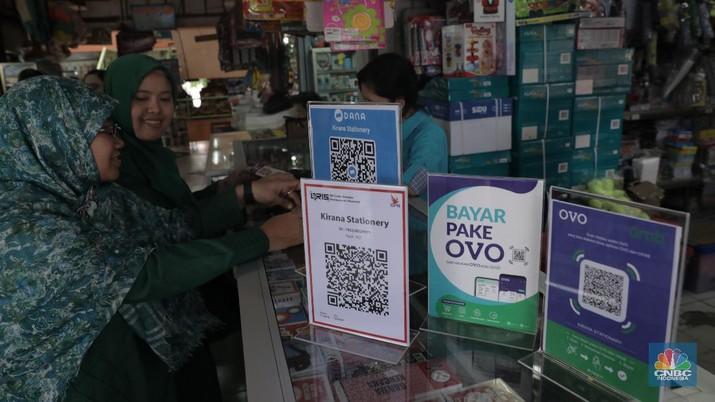 Pembayaran Digital, E Wallet (CNBC Indonesia/Muhammad Sabki)