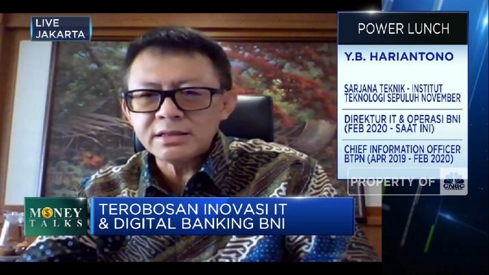 Inovasi BNI Kembangkan Layanan Transaksi Digital Perbankan (CNBC Indonesia TV)