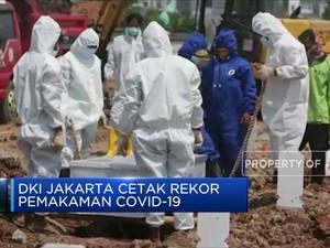 Capai 180 Jenazah, DKI Jakarta Cetak Rekor Pemakaman Covid-19
