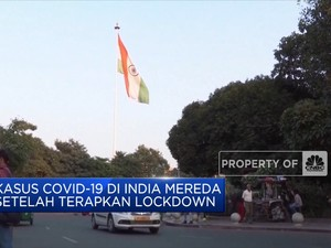 Kasus Covid-19 di India Mereda Setelah Terapkan Lockdown
