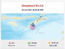 Alert! Setelah Gunung Kidul, Kupang Diguncang Gempa M 5.1