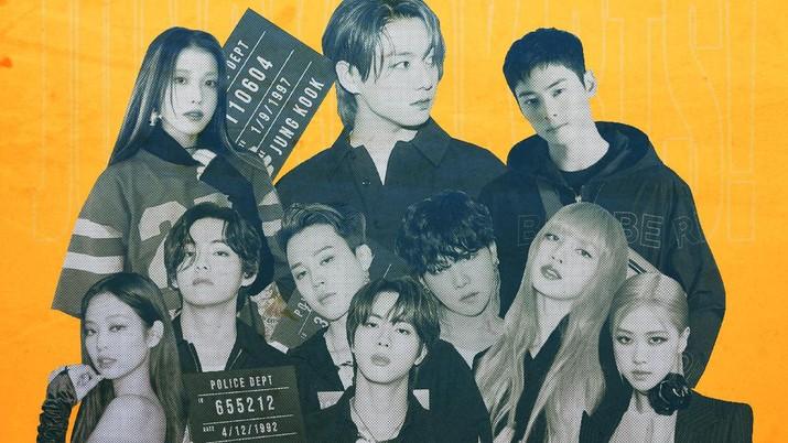 Infografis: Idol K-Pop Terpopuler Sejagad: Jungkook BTS!