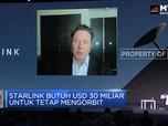 Starlink Butuh USD 30 Miliar Untuk Tetap Mengorbit