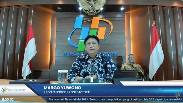 Kepala BPS Margo Yuwono (Tangkapan Layar Youtube BPS Statistics)