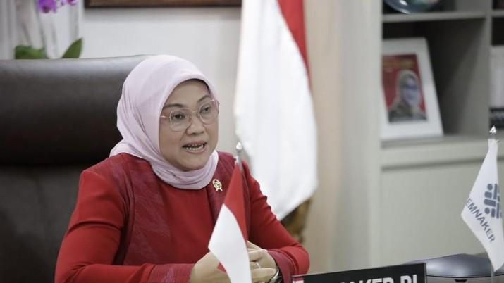 Menteri Ketenagakerjaan, Ida Fauziyah, menyambut baik putusan Mahkamah Konstitusi (MK) yang tidak menerima gugatan (Konfederasi) Serikat Buruh Sejahtera Indonesia ((K)SBSI)