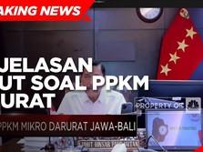 Simak! Penjelasan Menko Luhut Soal PPKM Darurat Jawa-Bali