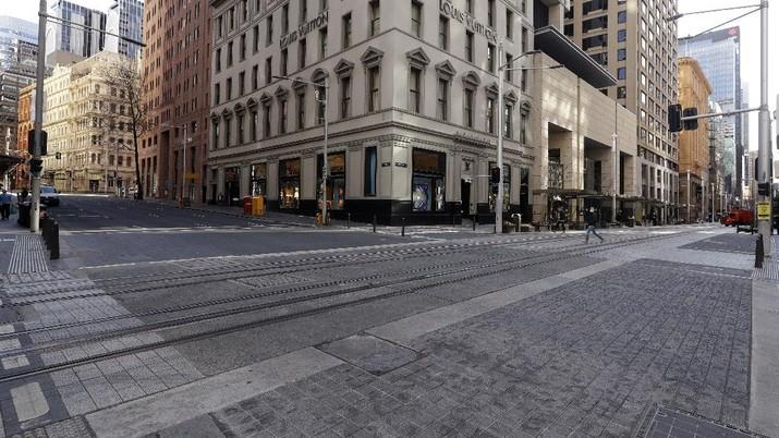 Lockdown Sydney diperpanjang. (AP/Rick Rycroft)