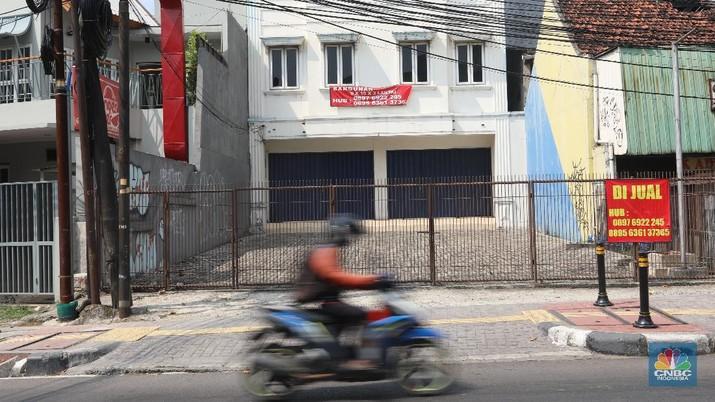 Ilustrasi ruko dijual (CNBC Indonesia/Andrean Kristianto)