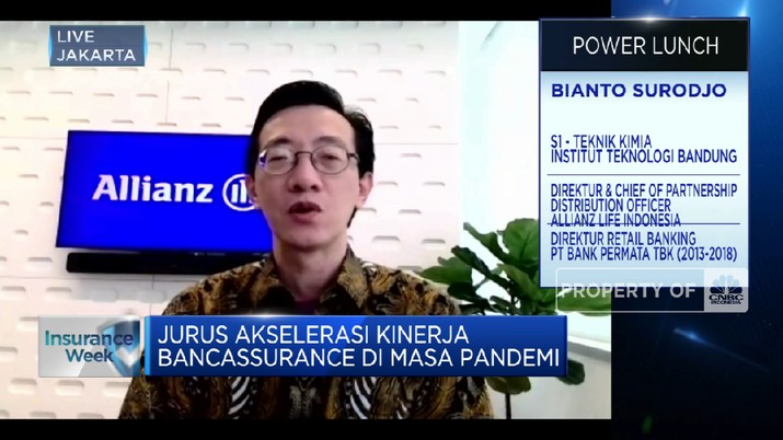 Jurus Allianz Life Dorong Kinerja Bancassurance di Masa Pandemi (CNBC Indonesia TV)