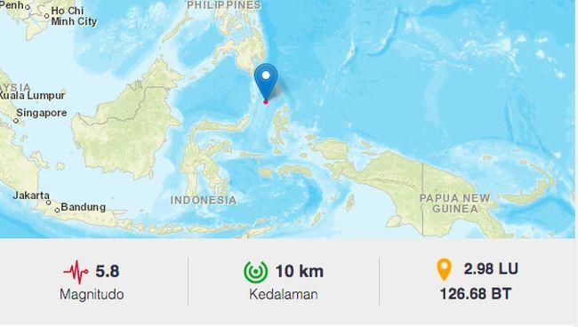 Gempa 5 8 M Guncang Maluku Utara Tak Berpotensi Tsunami