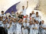 Argentina Juara, Messi Cs Angkat Trofi Copa America 2021
