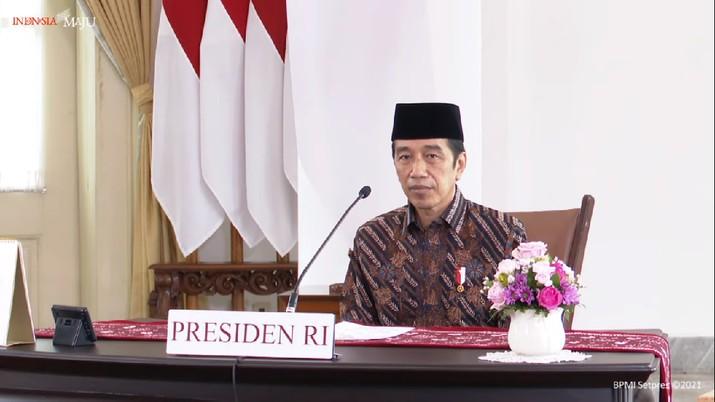 #PRAYFROMHOME bersama Presiden Joko Widodo, 11 Juli 2021 (Tangkapan Layar youtube/ Sekretarat Presiden)