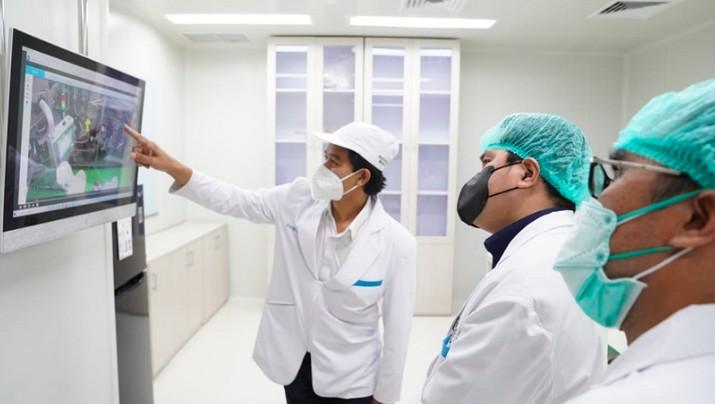 Erick Thohir di Bio Farma, 10 Juli 2021, dok Kementerian BUMN