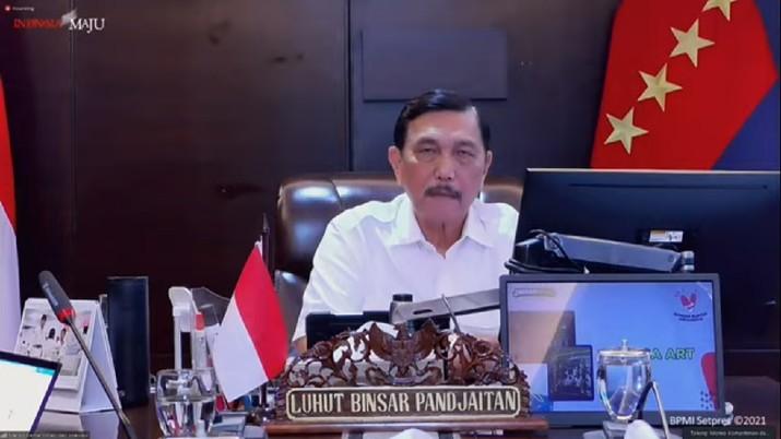 Ket Pers Menko Kemaritiman dan Investasi,Luhut Binsar Panjaitan (Tangkapan Layar Youtube/Sekretariat Presiden)