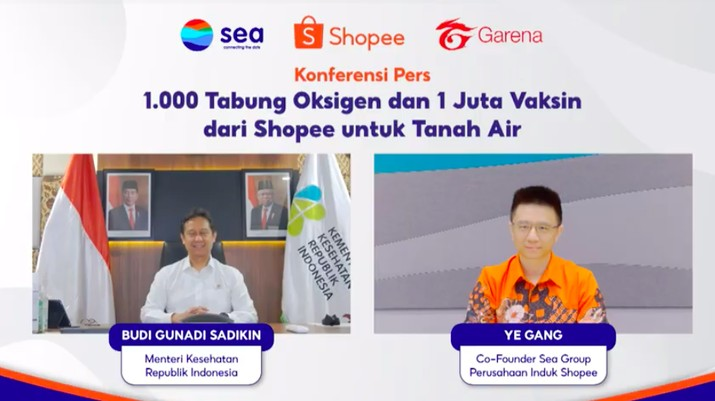 Shopee Sumbang 1.000 Tabung Oksigen dan 1 Juta Vaksin