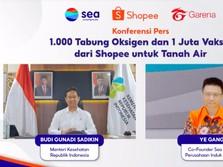 Induk Shopee Sumbang RI 1.000 Tabung Oksigen & 1 Juta Vaksin