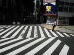 Sepi, Potret Tokyo Saat Diberlakukan Status Darurat