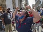 Demo Besar-besaran di Kuba, Ribuan Warga Turun ke Jalan