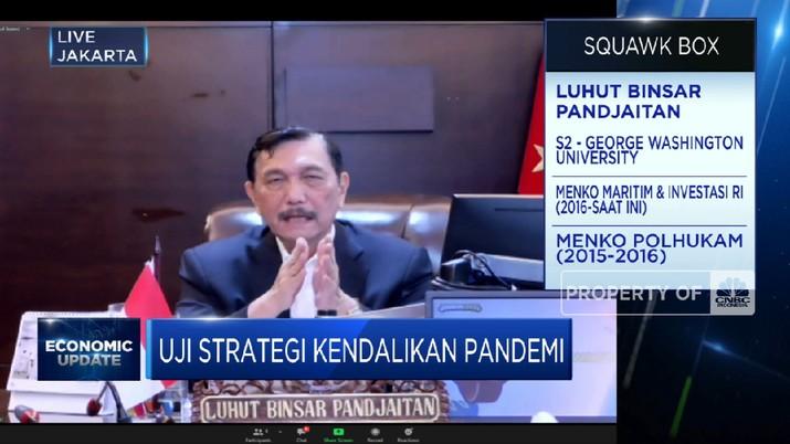 Luhut Pastikan Ketersediaan RS, Oksigen Hingga Vaksin di PPKM Darurat (CNBC Indonesia TV)