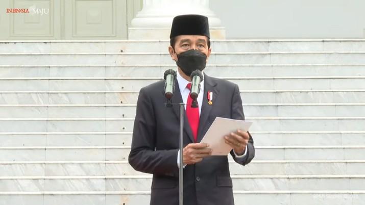 Prasetya Perwira TNI dan Pelantikan Perwira Polri Tahun 2021, Istana Merdeka, 13 Juli 2021. (Youtube/ Sekretariat Presiden)