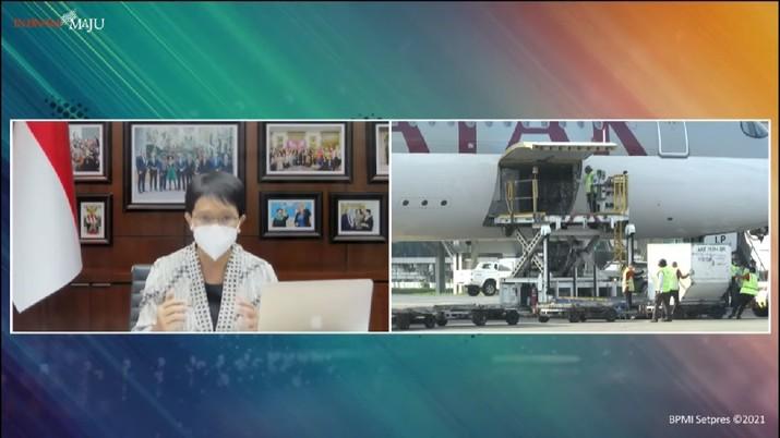Kedatangan Vaksin Covid-19 Tahap 24, Bandara Internasional Soekarno-Hatta, 15 Juli 2021 (Tangkapan Layar Youtube/Biro Setpres)
