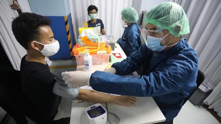 Taspen Gelar Vaksinasi Anak (CNBC Indonesia/Andrean Kristianto)