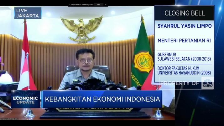Jawaban Mentan Syahrul Yasin Limpo Soal Wacana Pajak Sembako! (CNBC Indonesia TV)