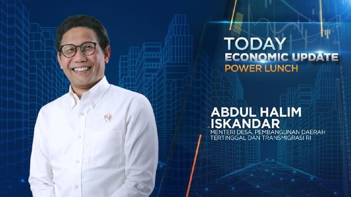 Menteri PDTT Abdul Halim Iskandar (Economic Update CNBC Indonesia)