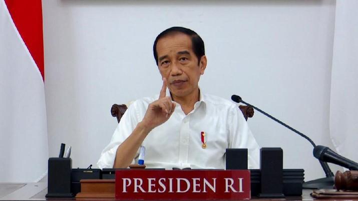 Presiden RI pada Ratas Evaluasi PPKM Darurat, Istana Merdeka, 16 Juli 2021. (Dok: Biro Pers - Sekretariat Presiden)