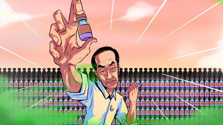INFOGRAFIS, Jokowi Marah, Stok Vaksin Covid-19 Menumpuk