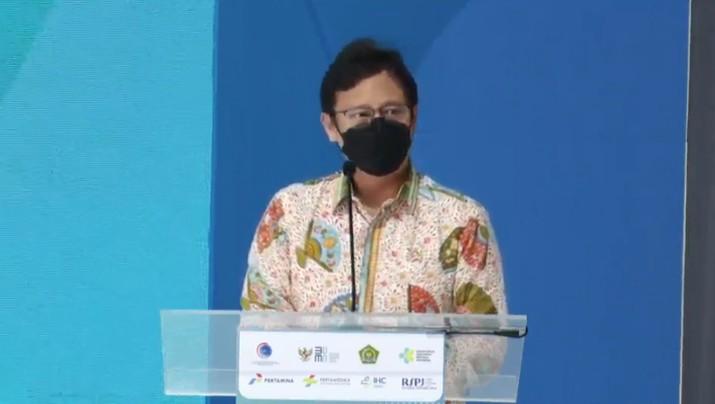 Menteri Kesehatan Budi Gunadi Sadikin saat Peresmian RSPJ Extensi Arafah Asrama Haji Embarkasi Jakarta. (Tangakapan Layar Youtube pertamedika training)
