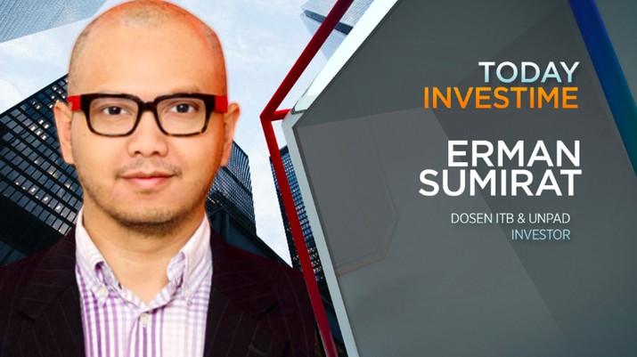 Pengamat pasar modal, dosen ITB & Unpad, dan investor, Erman Sumirat