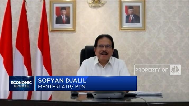 Sofyan Djalil Targetkan Semua Tanah Sudah Terdaftar di PTSL Pada 2025(CNBC Indonesia TV)