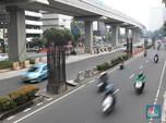 Penampakan Besi-besi di Tiang Monorel Jakarta yang Dicuri