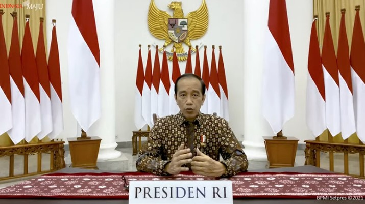 Presiden Joko Widodo Memberikan Pernyataan tentang Perkembangan Terkini PPKM Darurat (Tangkapan Layar Youtube Sekretariat Presiden)