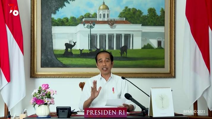 Presiden Jokowi Saat Pengarahan Presiden Republik Indonesia Kepada Kepala Daerah Se Indonesia Tahun 2021, 19 Juli 2021. (Tangkapan Layar Youtube Sekretariat Presiden)