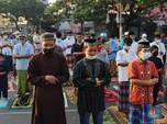 Suasana Salat Idul Adha Saat Pemberlakuan PPKM Darurat