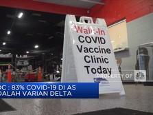 CDC: 83% Covid-19 di AS Varian Delta