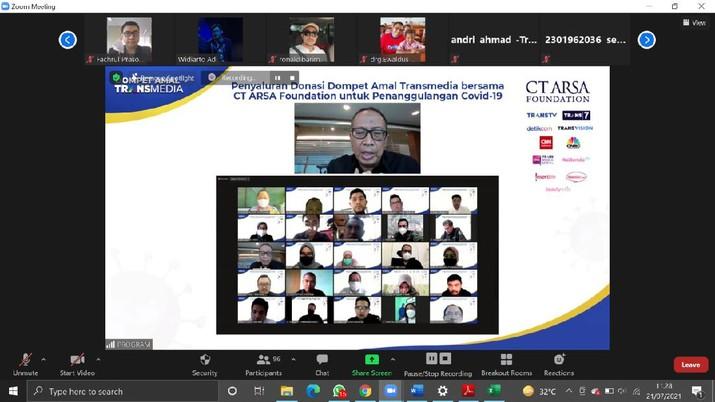 Dompet Amal TRANSMEDIA bersama CT ARSA Foundation Salurkan Donasi Tahap ke-9 untuk Penanganan Covid-1
