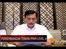 Penjelasan Menko Luhut Soal PPKM Level 4 & Penanganan Covid