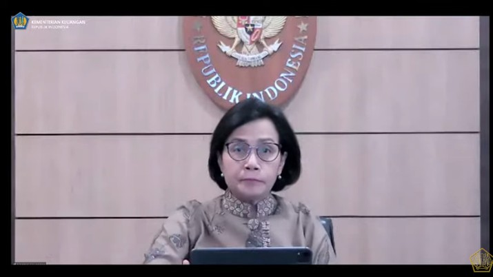 Menteri Keuangan Sri Mulyani Saat Konferensi Pers APBN KITA Juli 2021. (Tangkapan Layar Youtube Kemenkeu RI)