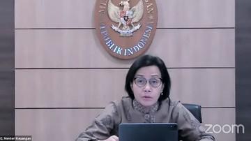 menteri keuangan sri mulyani saat konferensi pers tindak lanjut terkait perkembangan terkini penerapan ppkm tangkapan layar yo 5 169