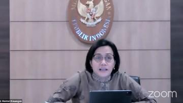 menteri keuangan sri mulyani saat konferensi pers tindak lanjut terkait perkembangan terkini penerapan ppkm tangkapan layar yo 7 169