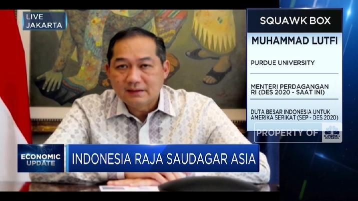 Perluas Pasar Ekspor Lewat Diplomasi Dagang Mendag M. Lutfi (CNBC Indonesia TV)